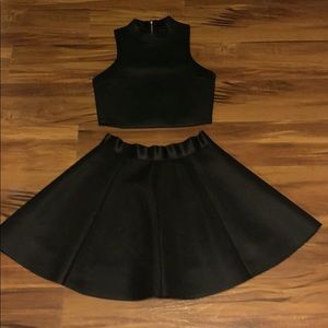 Two piece skirt and top.